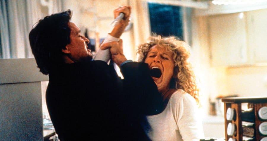 Fatal Attraction (1987)Directed by Adrian LyneShown: Michael Douglas, Glenn Close