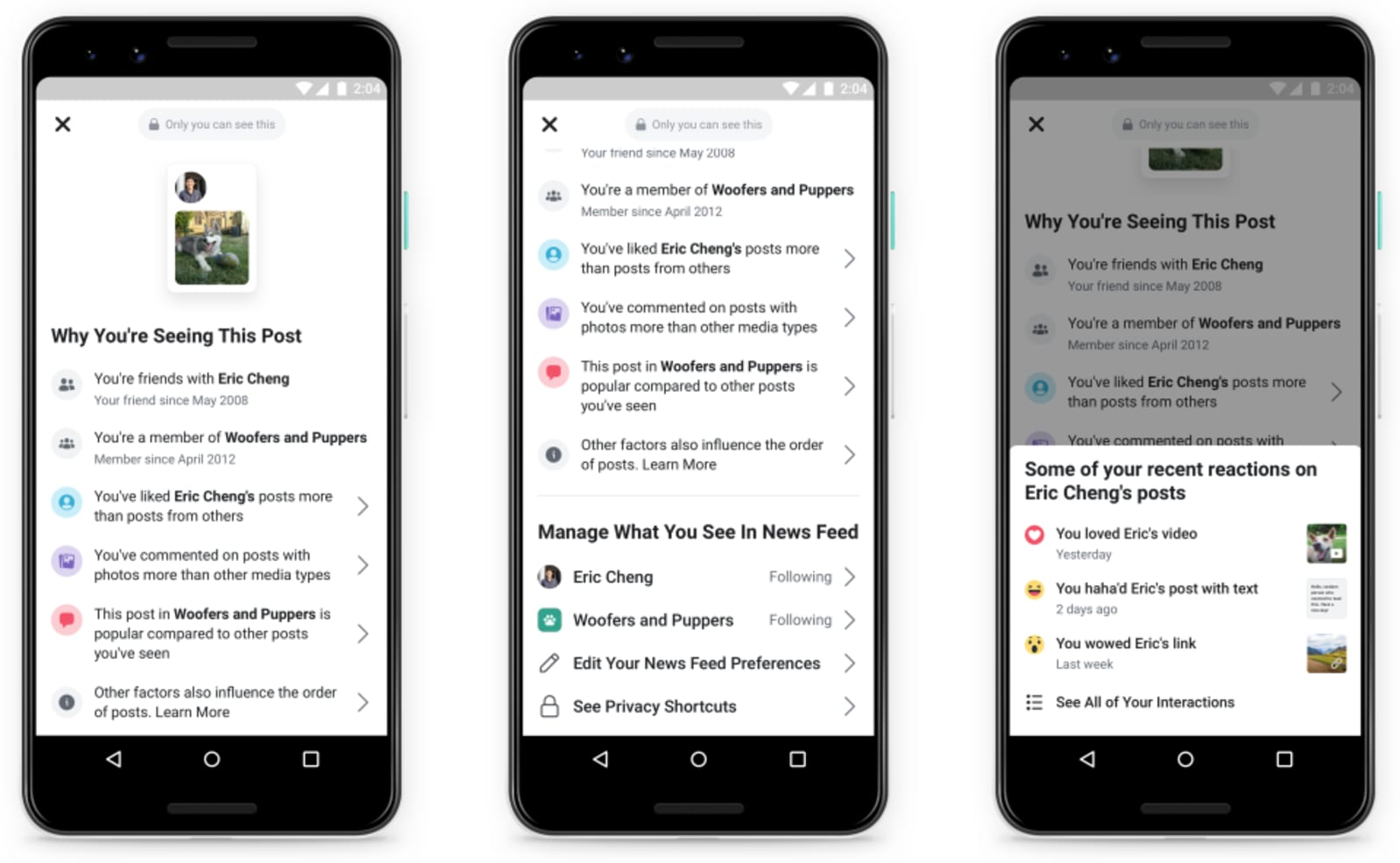 Facebook gives you more control over what you see in your News Feed