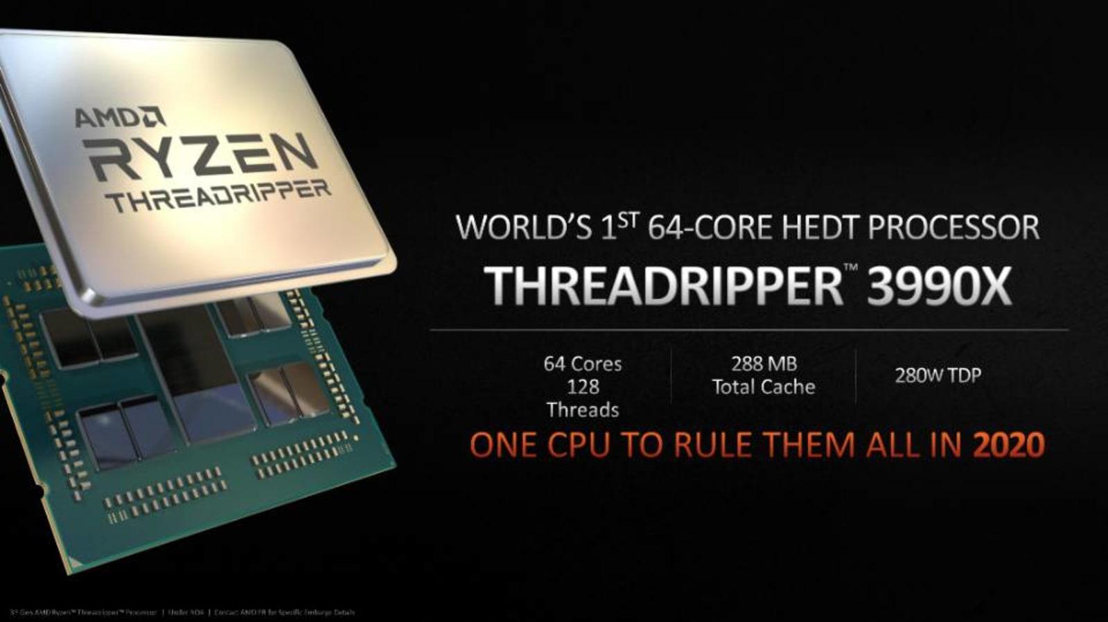 CPU xử lý AMD 64 lõi 3990X