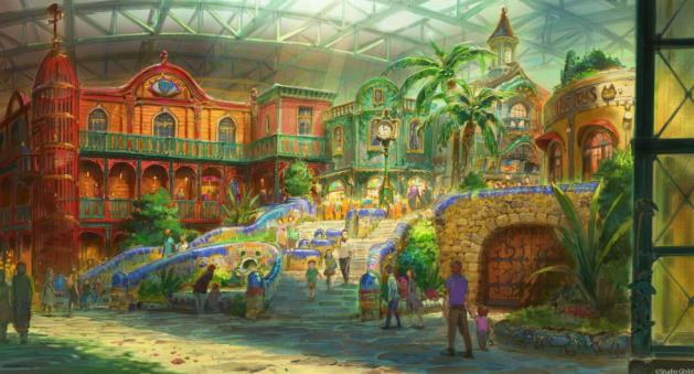 ジブリの大倉庫エリアのイメージ図