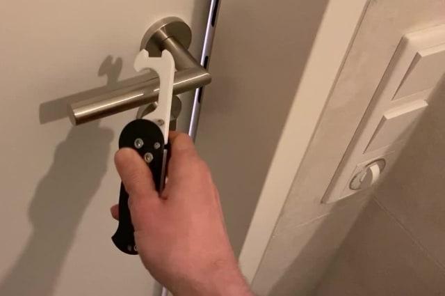 Look, no hands! Austrian man creates door opener with 3D printer to prevent spread of COVID-19