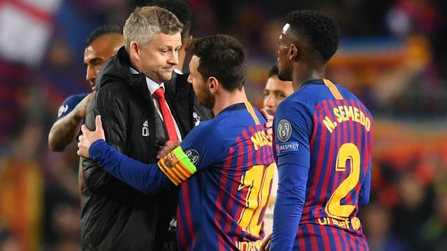 c2fd4340372 Messi at the wheel – Barca poke fun at Solskjaer s United - AOL