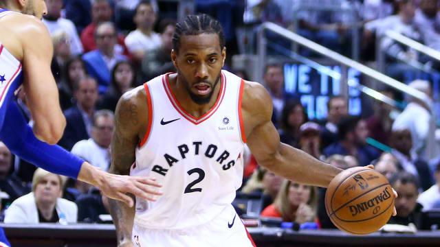 2de61c878 Toronto Raptors star Kawhi Leonard hit one of the biggest shots of this  year s NBA playoffs on Sunday.