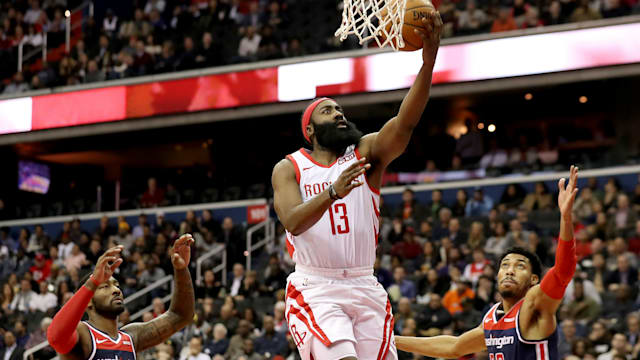 025b0fb0a80b James Harden s big game wasn t enough to lead the Houston Rockets to a win  over the Washington Wizards on Monday.