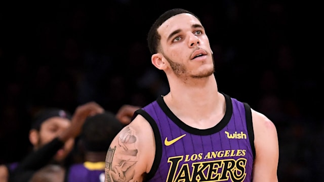 967449f2b64 Lonzo Ball to miss 4-6 weeks with ankle sprain - AOL