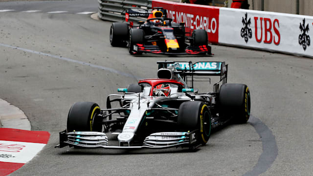 Hamilton clings on for Monaco glory but Mercedes' one-two