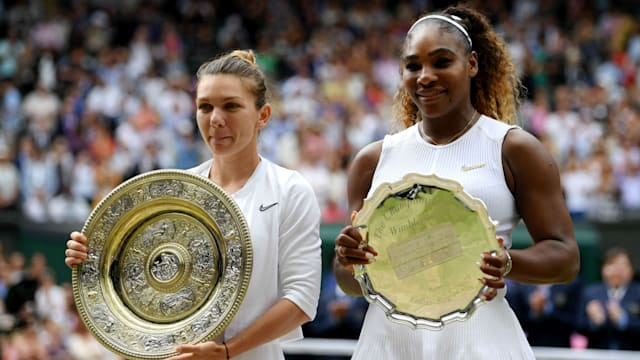 Halep happy to shrug off Serena fear factor for Wimbledon glory - AOL