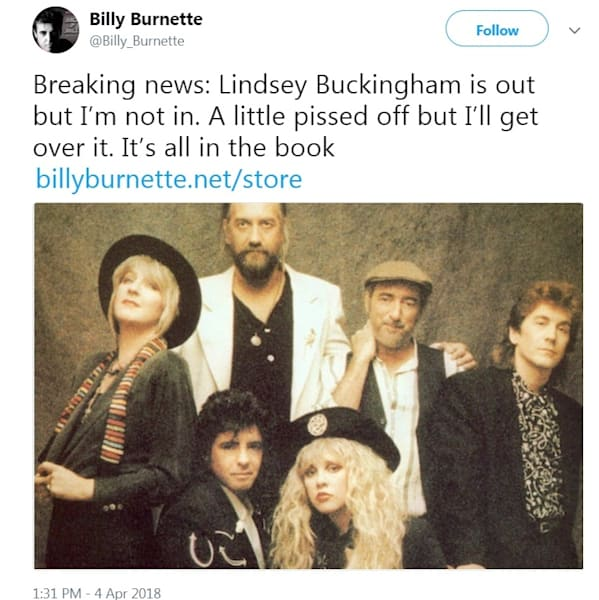 Lindsey Buckingham leaves Fleetwood Mac - AOL Entertainment