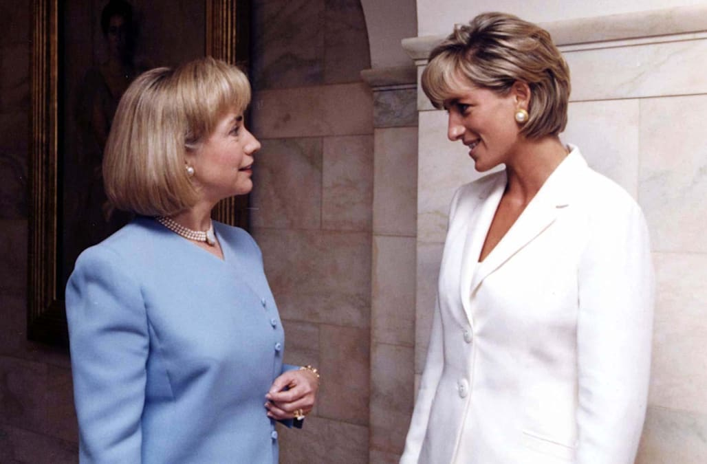Princess Diana With Hillary Clinton Nicole Kidman All Of Her Incredible Celebrity Moments Aol Entertainment