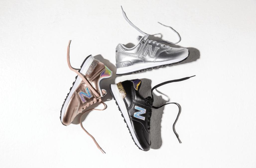 scarpe donna new balance 574 glitter punk