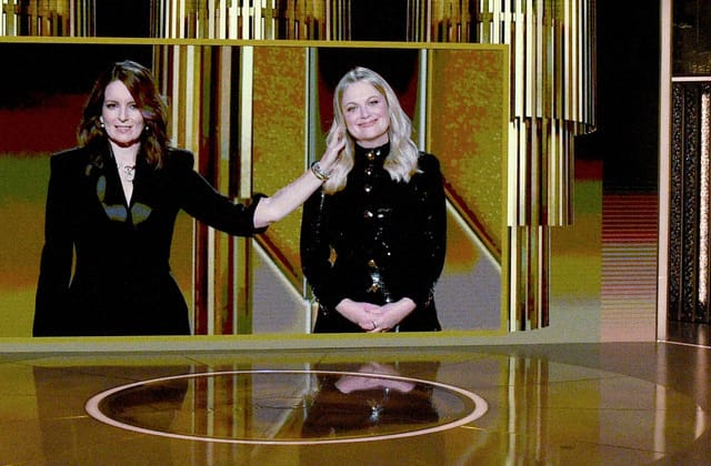 Fey and Poehler blast lack of diversity in Golden Globes monologue