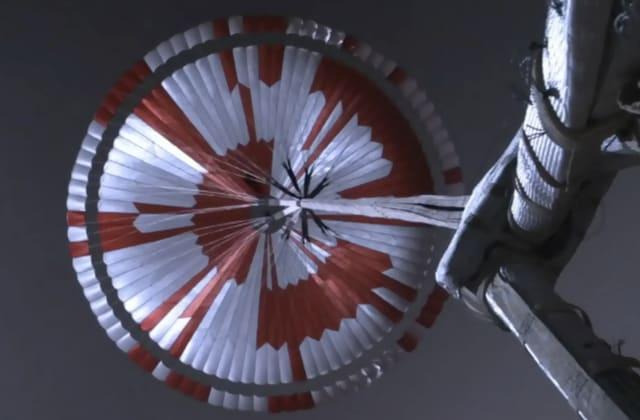 Space fans spot hidden message of NASA parachute