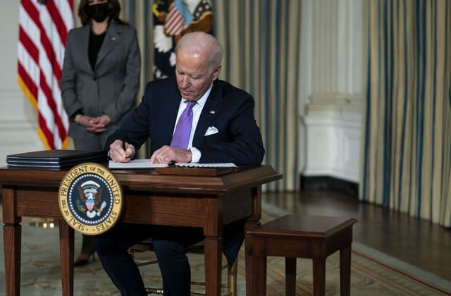 Here's the full list of Biden's executive actions so far