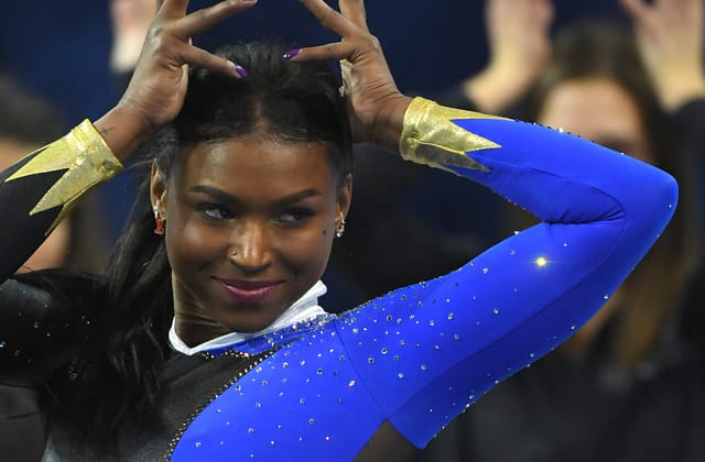 Viral gymnast gets 'fierce' praise from Michelle Obama