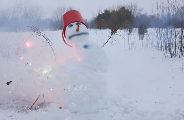 That's one way to destroy a snowman
