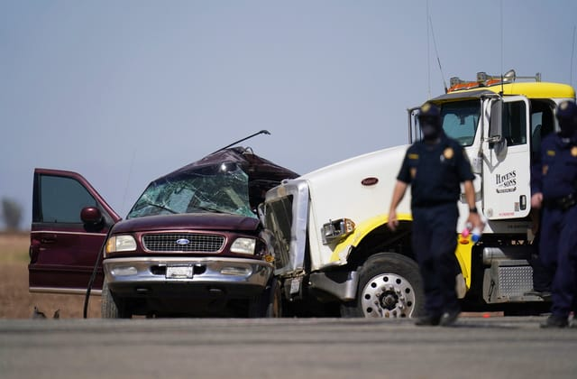 Human smuggling probe initiated after collision kills 13 of 25 inside SUV