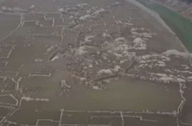 Ancient village appears after reservoir dries up