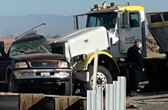 SUV carrying 25 in Calif. crashes with semitruck, killing 13