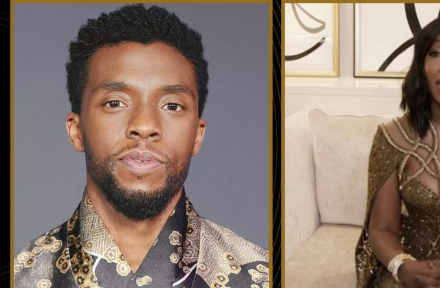 Chadwick Boseman's widow tearfully accepts his Golden Globe