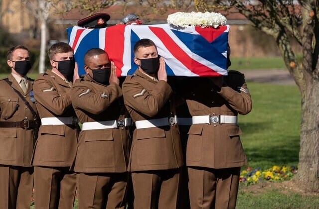 'His spirit lives on': Funeral held for Captain Sir Tom