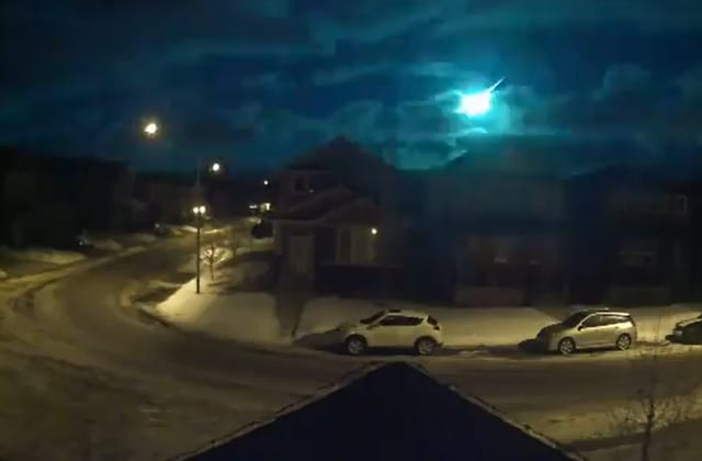 Doorbell cameras capture fireball over Canada