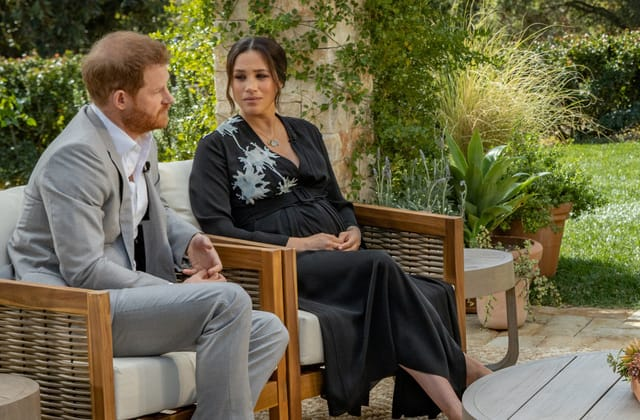 Royals absorb shock of revealing Harry, Meghan interview