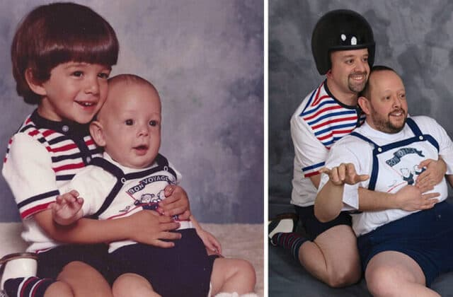 Masterfully recreated childhood photos