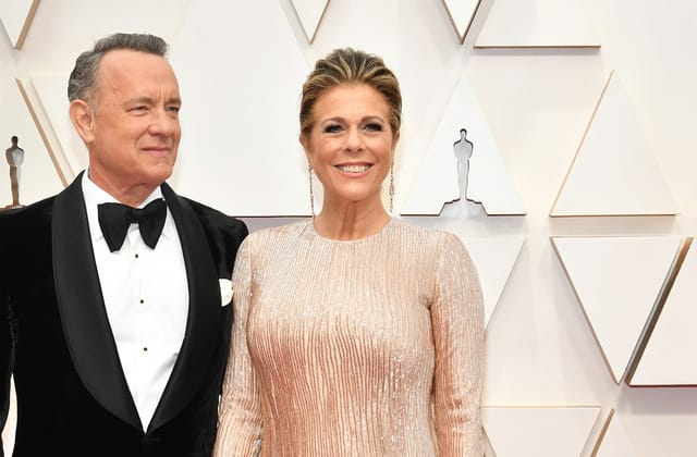 Rita Wilson marks a year since she and Tom Hanks fell ill with COVID-19
