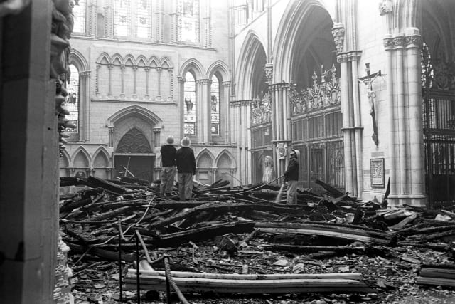 b15496d9 The dramatic images of a burning Notre Dame Cathedral have brought back  memories of the devastating blaze which severely damaged York Minster 35 years  ago.