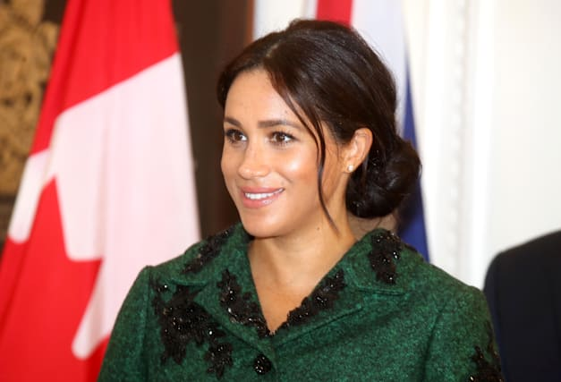 473235a49a Meghan's nod to Canada with Erdem coat on Commonwealth Day - AOL