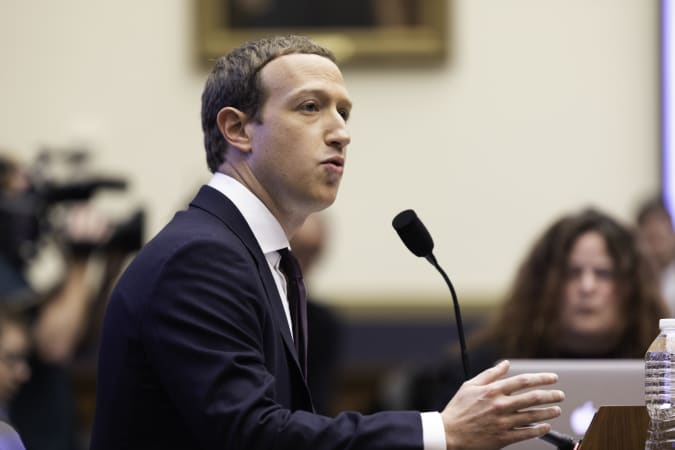 The Facebook CEO, Mark Zuckerberg, testified before the House Financial Services Committee on Wednesday October 23, 2019 Washington, D.C. (Photo by Aurora Samperio/NurPhoto via Getty Images)