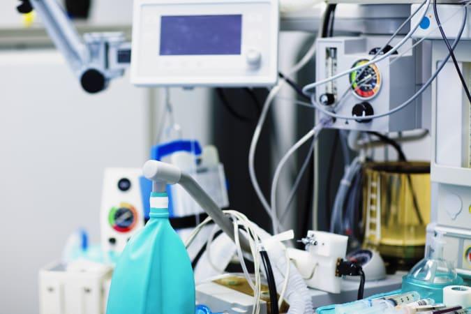 Ventilator in an operating room