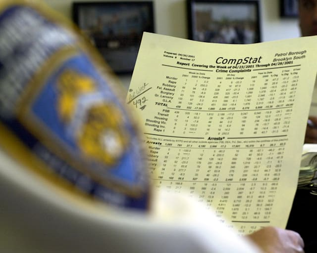 UNITED STATES - MAY 02: Assistant Chief Joseph Fox heads Brooklyn South Police and has reported marked drops in crime statistics and holds Compstat results for Brooklyn South. (Photo by Todd Maisel/NY Daily News Archive via Getty Images)