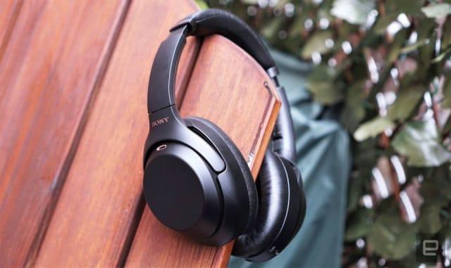 Sony WH-1000XM3 wireless headphones.