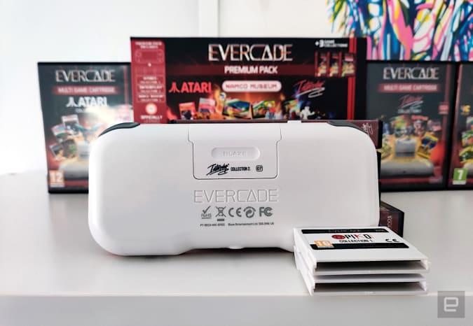 Evercade retro handheld.