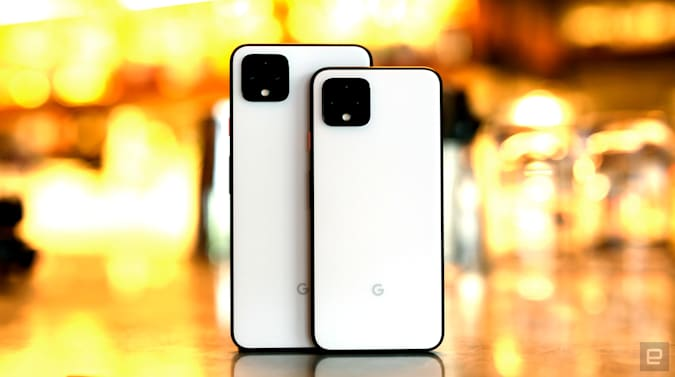 Google Pixel 4 and Pixel 4XL smartphones.