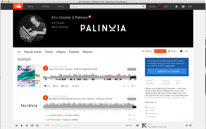 SoundCloud support button