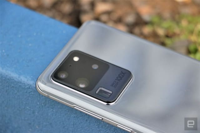 Samsung Galaxy S20 Ultra rear cameras