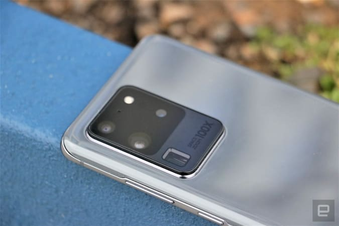 Samsung Galaxy S20 Ultra rear cameras