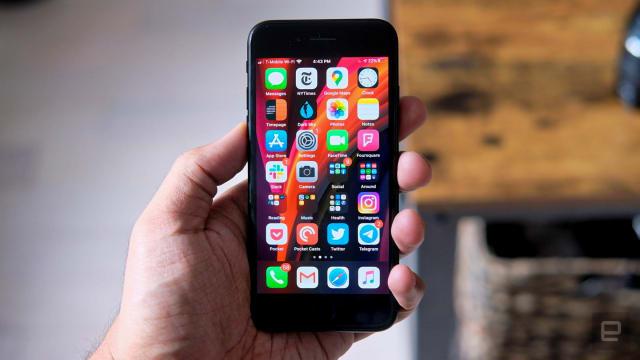 iPhone SE smartphone.