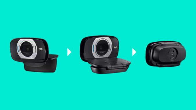 Logitech C615 USB webcam.