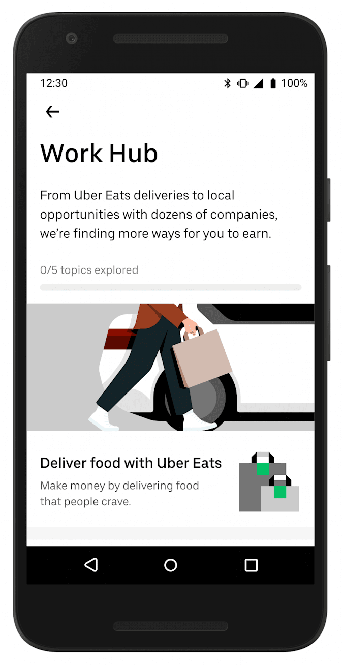 Uber's Work Hub will connect drivers with job openings at other companies.
