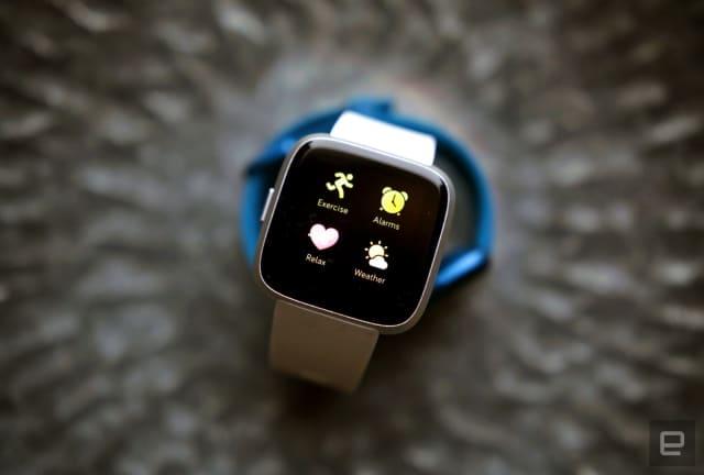 The Fitbit Versa Lite smartwatch.