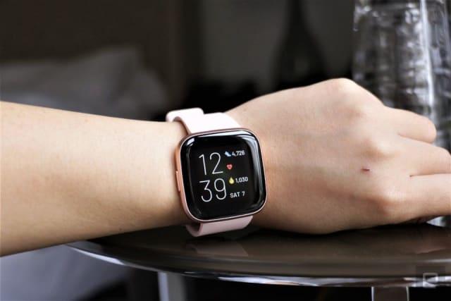 Fitbit Versa 2 smartwatch.