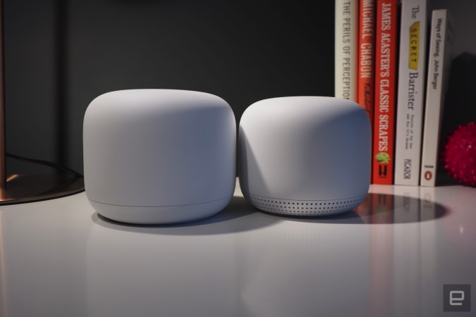Google Nest WiFi and access point.