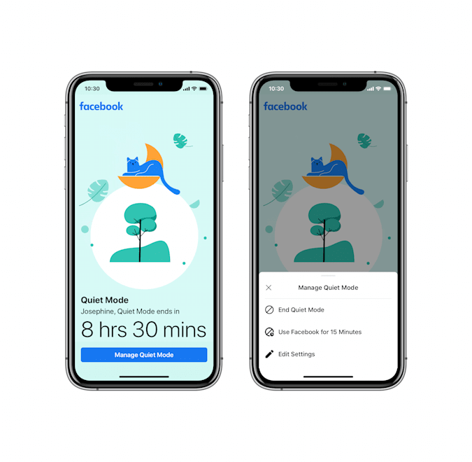 When quiet mode is enabled, the app will warn you.