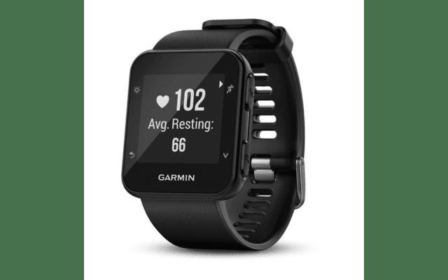 Garmin Forerunner 35 GPS watch.