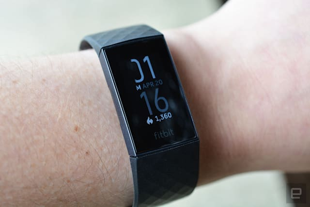 Fitbit Charge 4 fitness tracker.