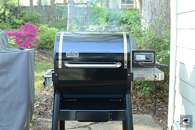 Weber's first pellet grill has potential to be a backyard powerhouse, but the smart features need work.