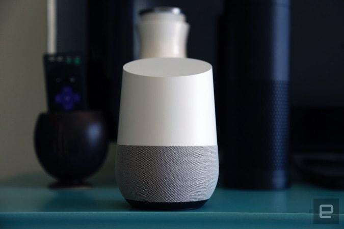 Google Home smart speaker.